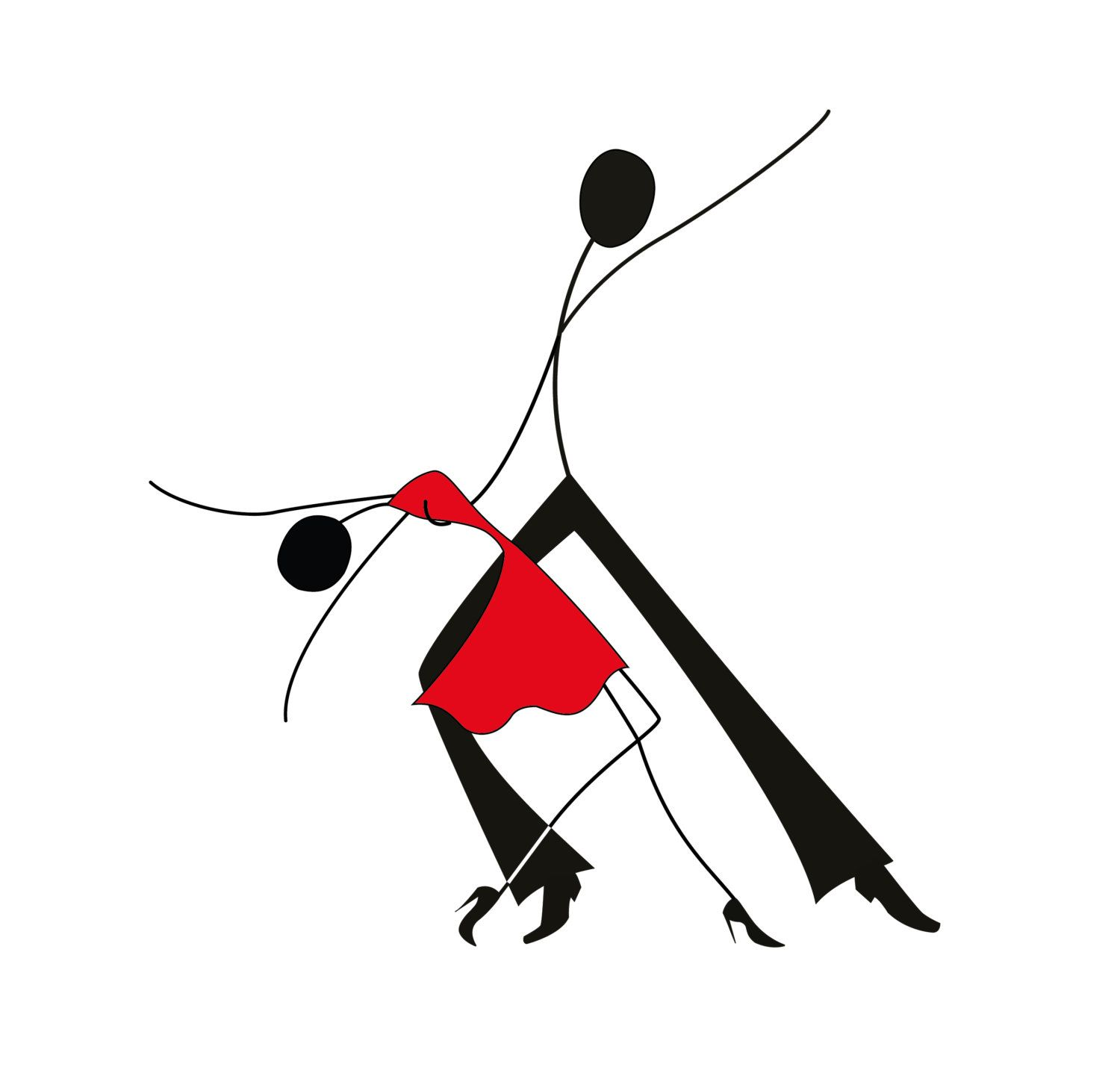 1500x1445 Dancing Man And Woman Stick Figures Czarne Stick