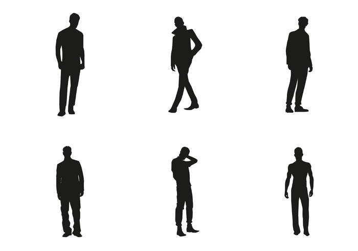 700x490 Human Silhouette Vector Free