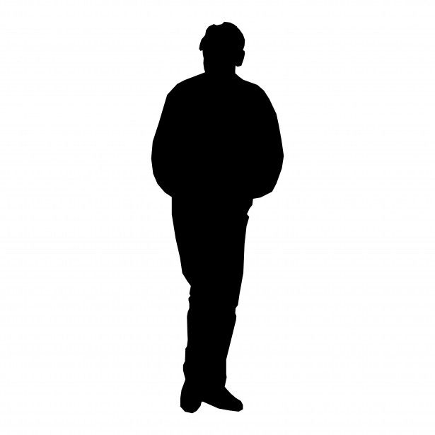 615x615 Person Standing Vector Silhouettes