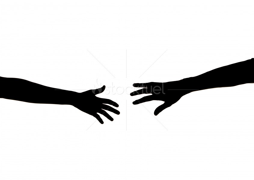 845x600 Stretching Hands Silhouette Stock Photo Stockfuel
