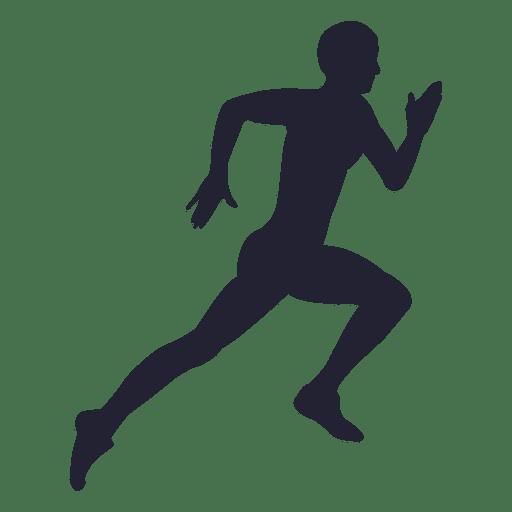 512x512 Man Running Silhouette 16
