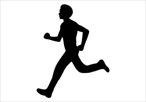 501x351 Running Boy Silhouette Graphics Silhouette Clip Art