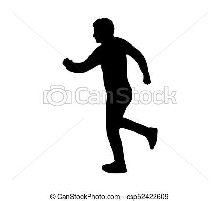 450x413 Silhouette Man Running Vector Clipart