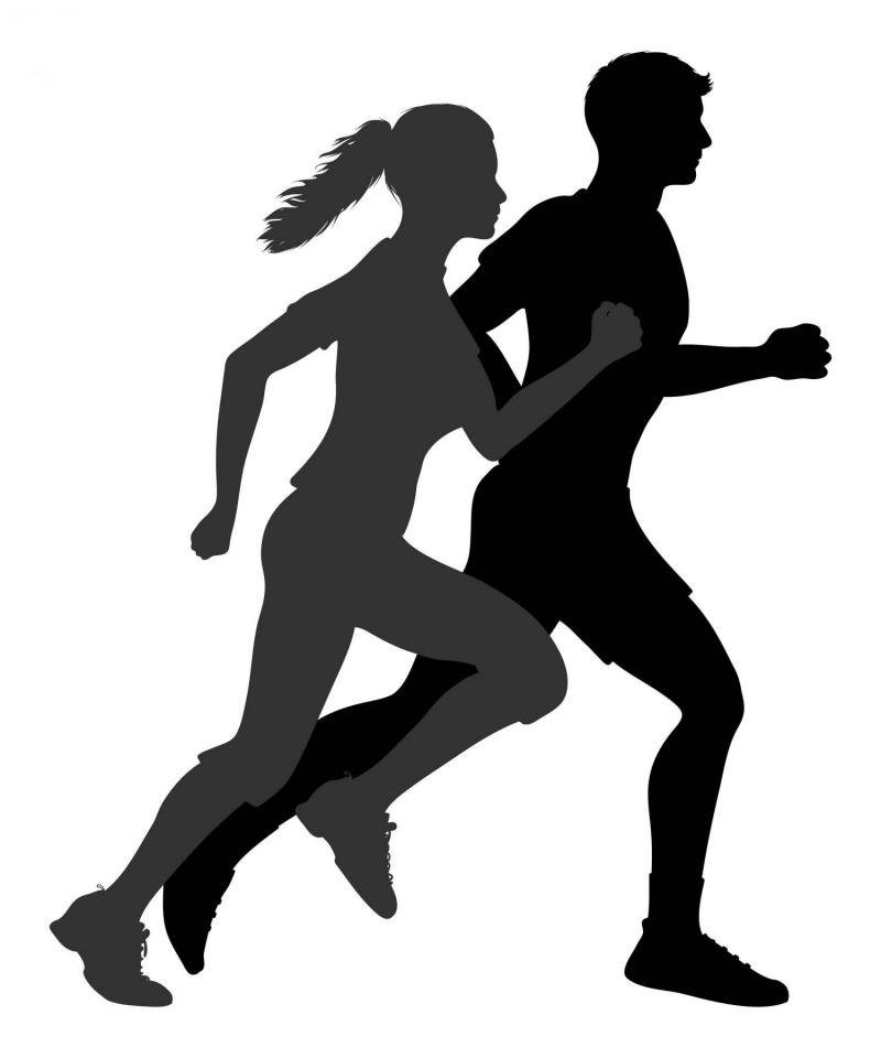 800x960 Man And Women Running Clipart Silhoutette Collection