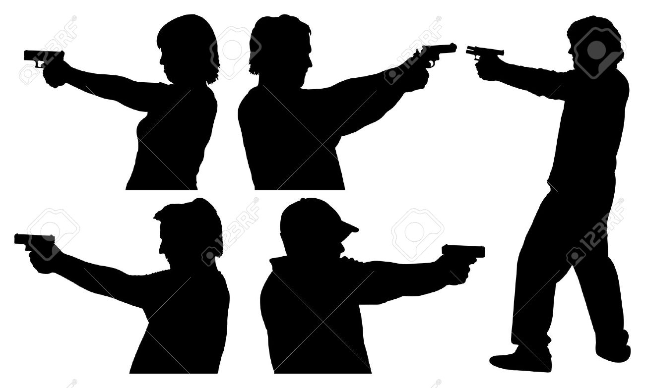 1300x783 Shooter Clipart Silhouette