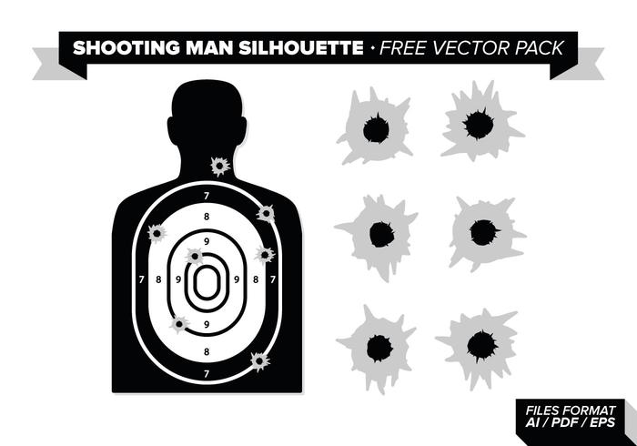 700x490 Shooting Man Silhouette Free Vector Pack
