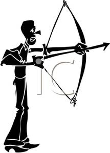 215x300 Silhouette Of A Man Shooting A Bow And Arrow