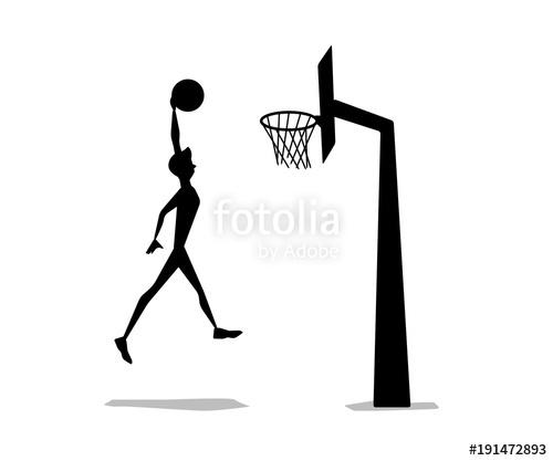500x417 Basket Ball Man Shooting Silhouette Cartoon Design Stock Image