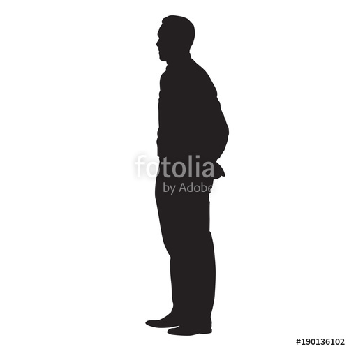 Man Side View Silhouette
