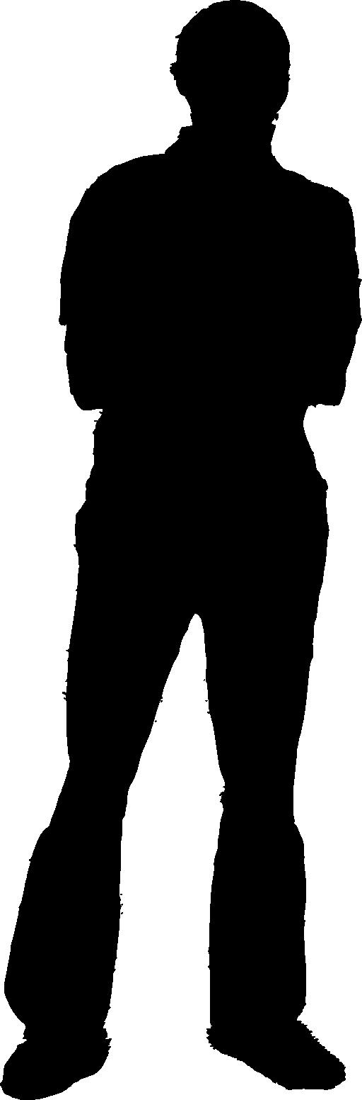 512x1552 Man Silhouette Clipart I2clipart