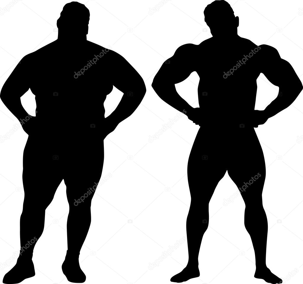 1024x959 Gallery Fat Man Silhouette,
