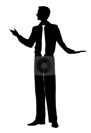308x450 Male Silhouette Stock Photo