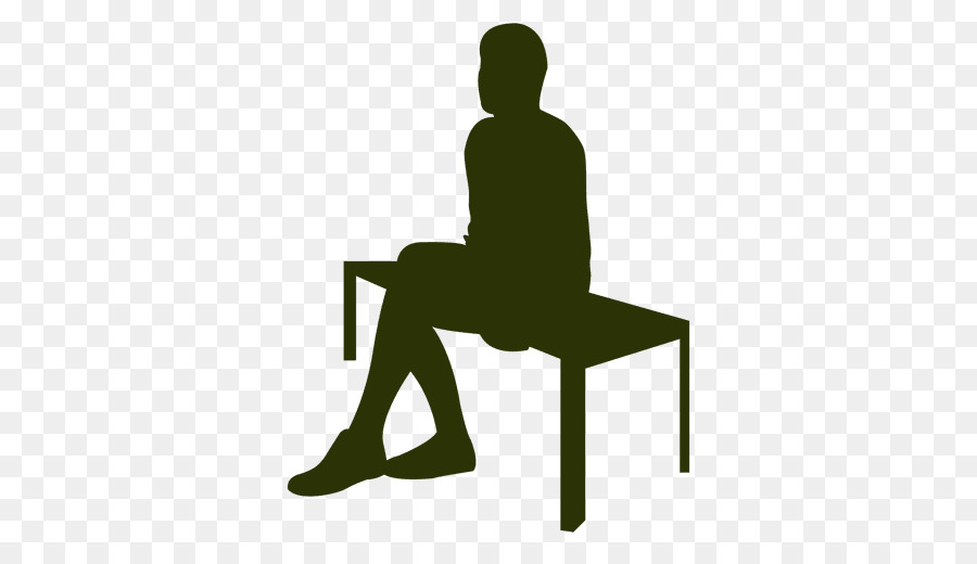 900x520 Sitting Silhouette Table Drawing Clip Art
