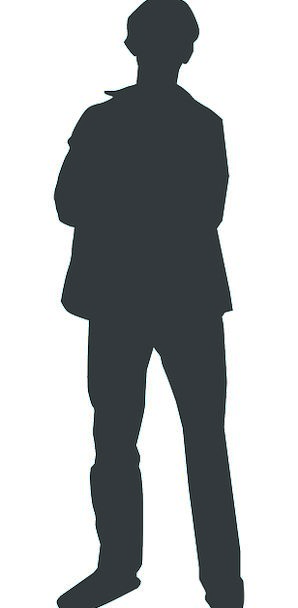 298x608 Man, Gentleman, Outline, Person, Being, Silhouette, Human
