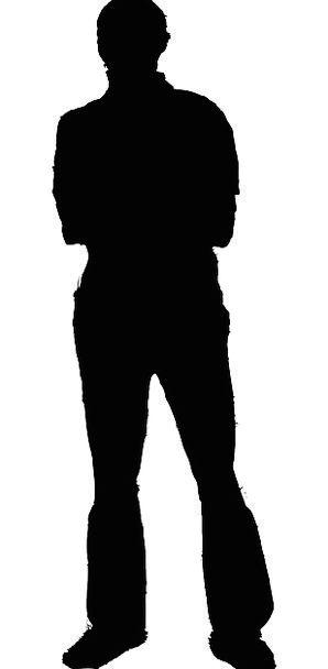 298x608 Man, Gentleman, Silhouette, Outline, Guy, Male, Masculine, Profile