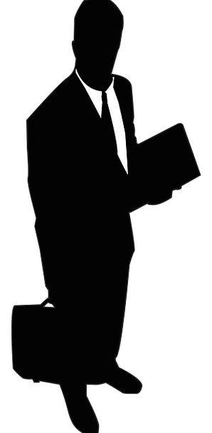 298x608 Businessman, Manufacturer, Gentleman, Silhouette, Outline, Man