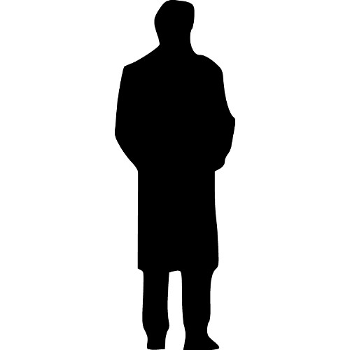 500x500 Shadow Clipart Man Back