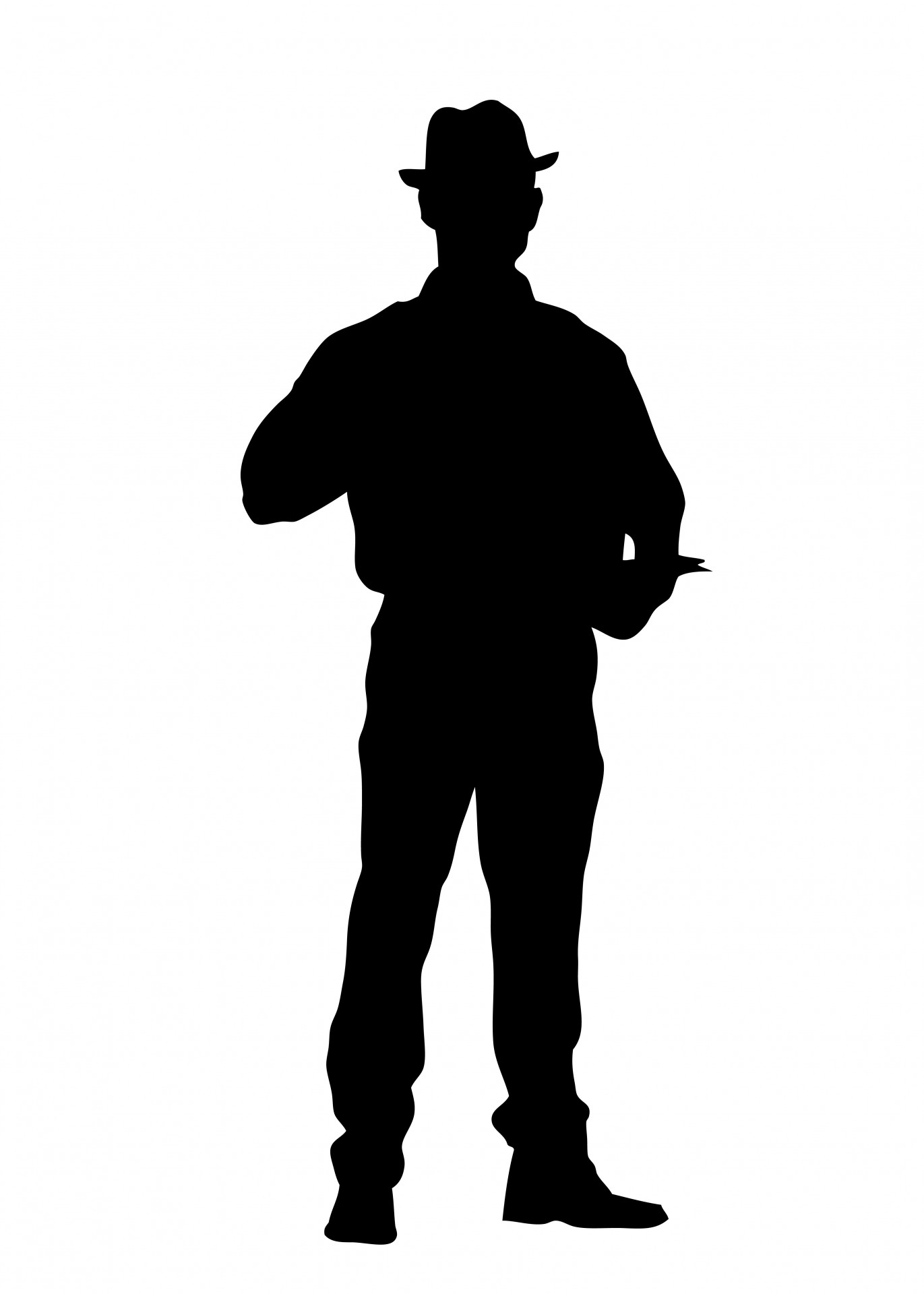 1371x1920 Man Standing Silhouette Free Stock Photo