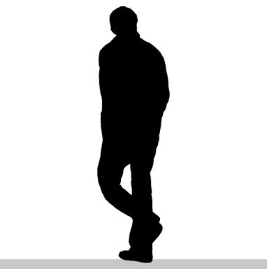 382x385 Man Walking Silhouette Graphics Man Silhouette