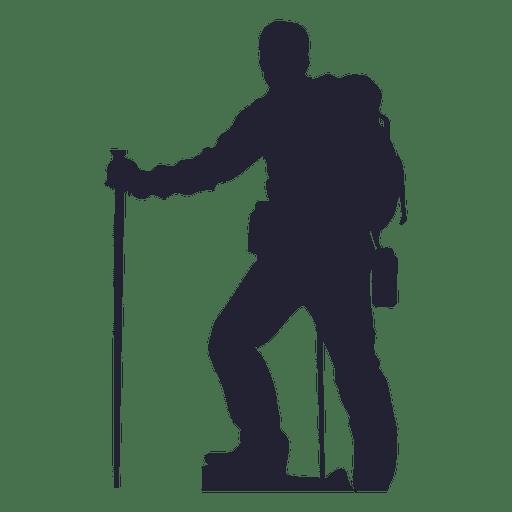 512x512 Hiking Man Silhouette