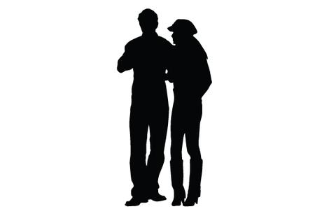 480x309 Woman And Man Silhouette Vector Silhouettes Vector