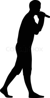 162x320 Man Singer Woman Singer And Drummer Silhouette Vector Stock