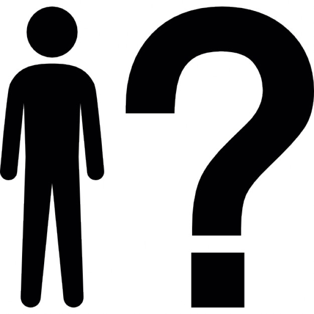 626x626 Man Standing Beside A Question Mark Icons Free Download