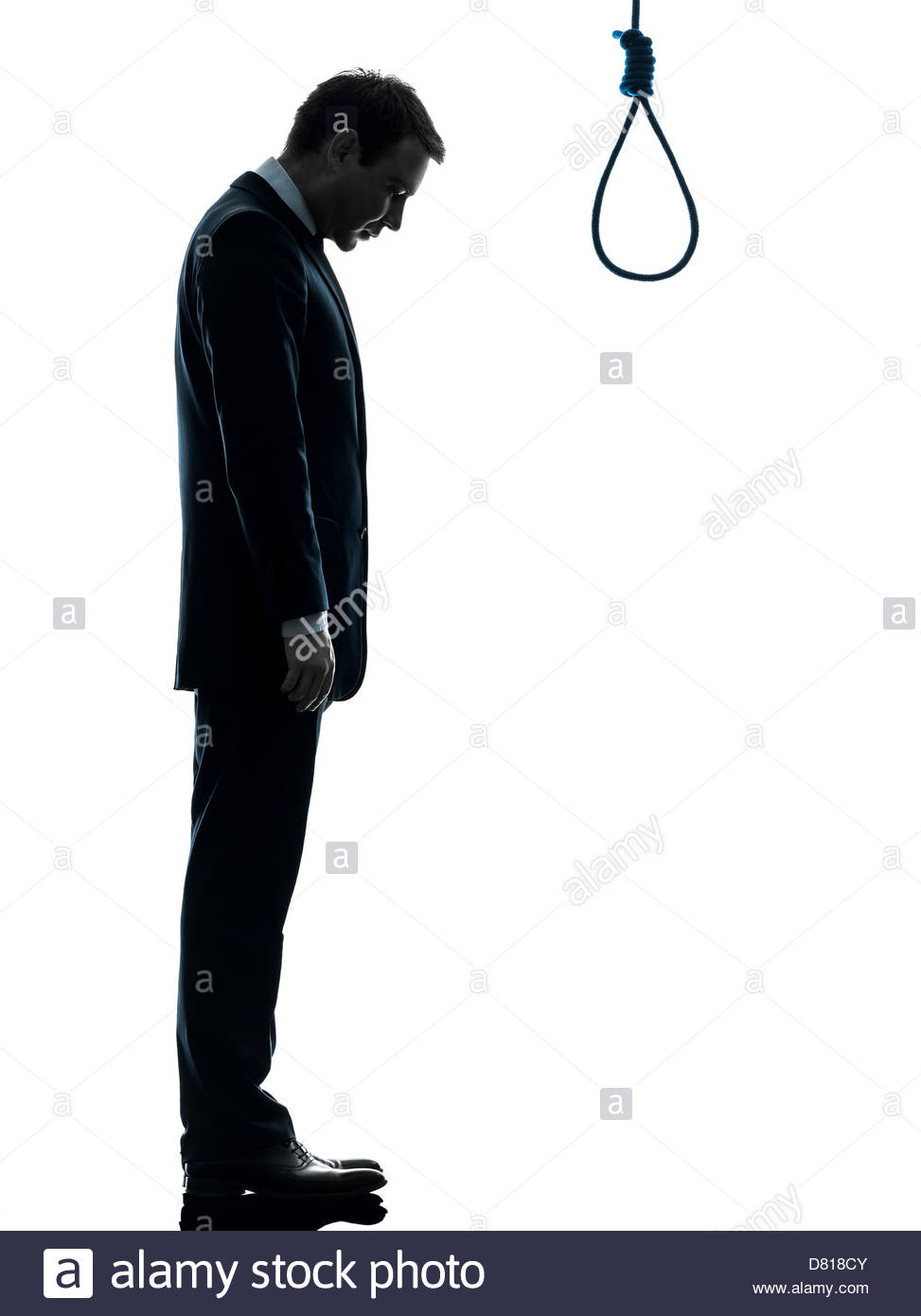 973x1390 One Man Standing In Front Of Hangman's Noose In Silhouette Studio