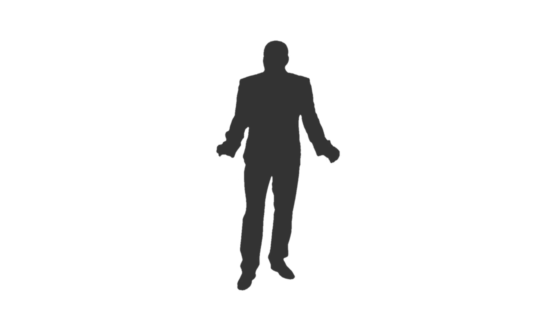 1920x1080 Silhouette Of A Man In Suit Is Singing And Dancing. Full Hd