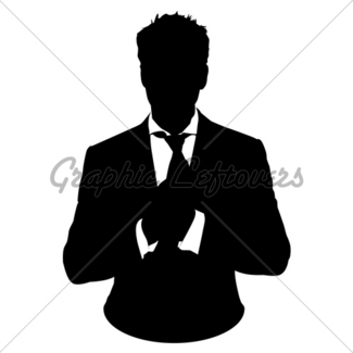 325x325 Business Man In Suit And Tie Silhouette Gl Stock Images