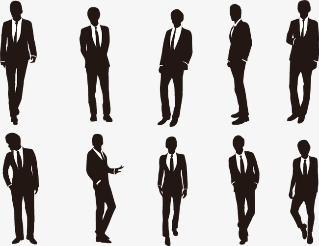 650x501 Business People Silhouette Material, Business Man, Suit