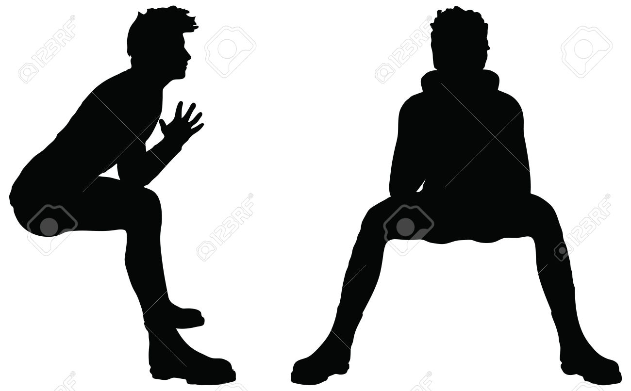 1300x806 Person Sitting Silhouette Clipart