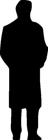 204x592 Silhouette Of A Man Clip Art Free Vector 4vector
