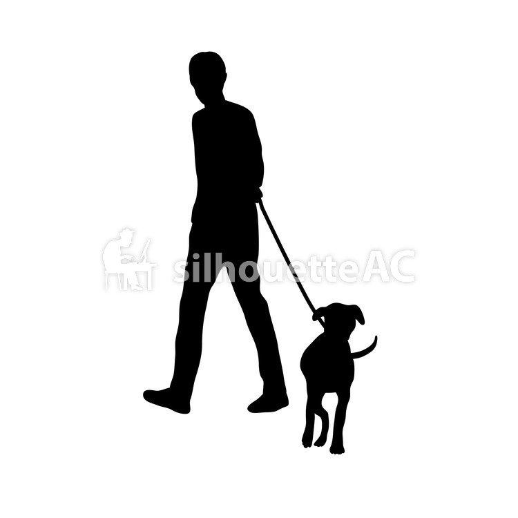 750x750 Free Silhouettes Dog, Man