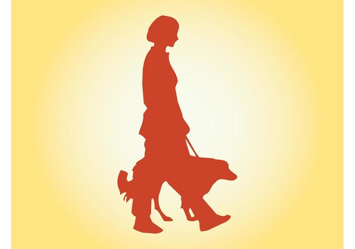 700x490 Girl Walking Dog
