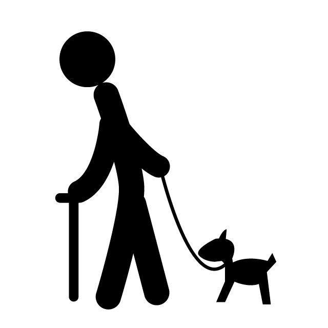640x640 A Walk An Old Man A Dog Free Icon Mark Illustration