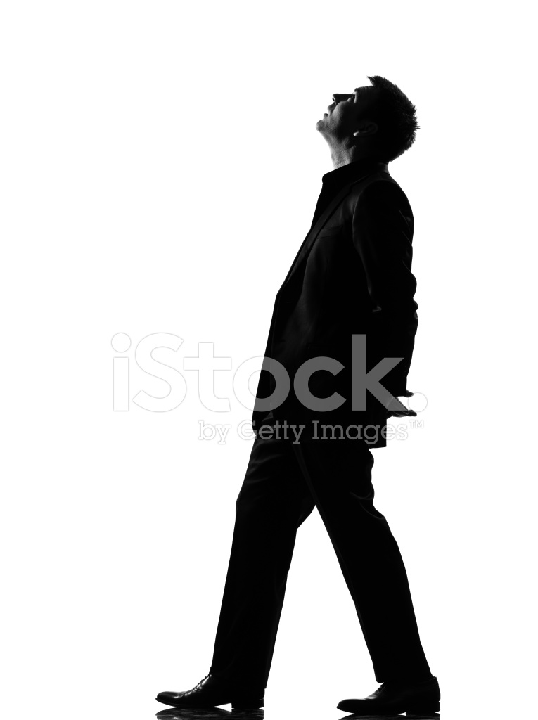 765x1024 Silhouette Man Walking Musing Looking Up Stock Photos