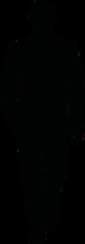 175x500 Bald Man Walking In A Suit Silhouette Vector Image Public Domain