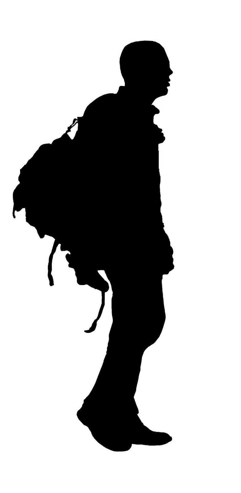782x1600 Young Man Silhoette This Is A Silhouette Of Young Man Sauntering