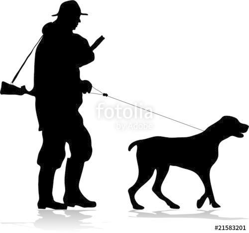 500x468 Hunter And Dog Silhouette Stock Image And Royalty Free Vector