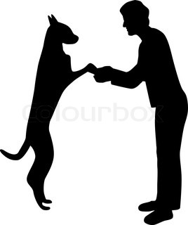 268x320 Man And Dog Silhouette Vector Stock Vector Colourbox