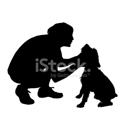 440x440 Vector Silhouette Of A Man With A Stock Vector