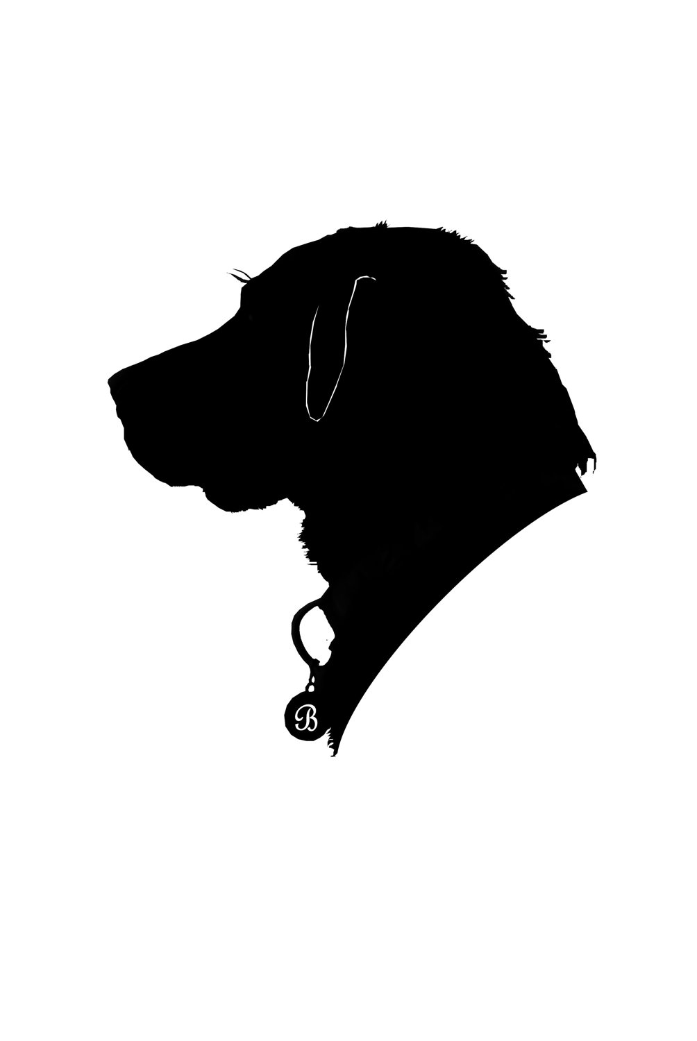 1004x1500 Custom Pet Silhouette Silhouettes Silhouette, Dog