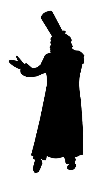 341x600 In Top Hat Silhouette