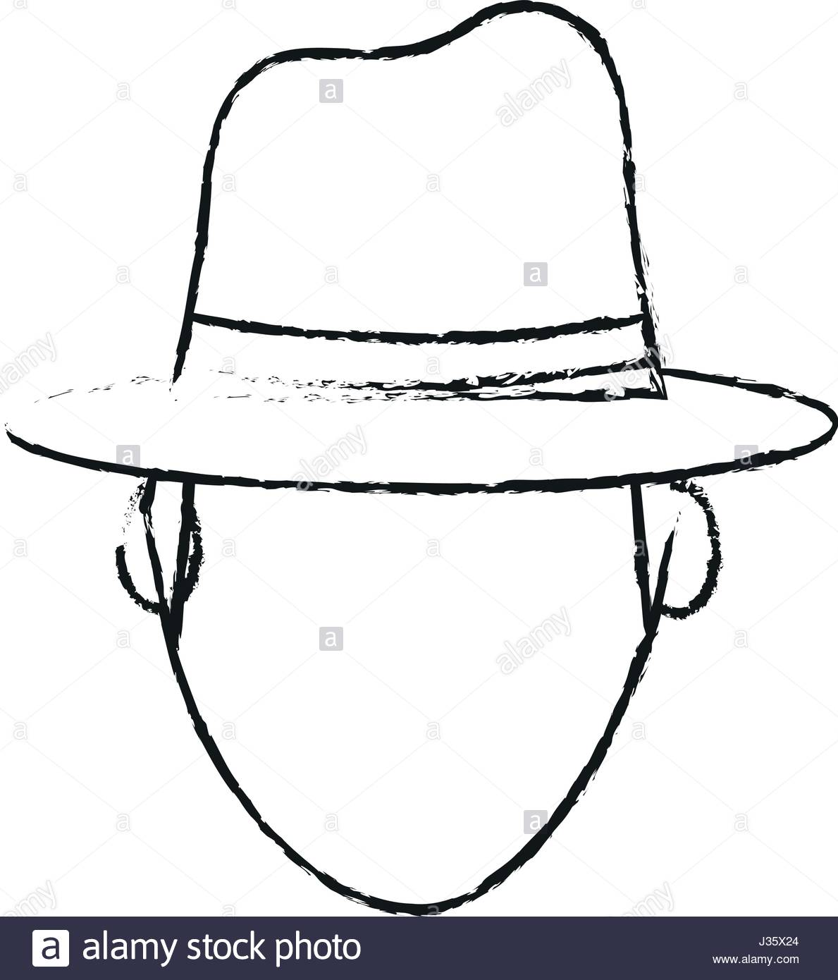 1189x1390 Blurred Silhouette Front View Faceless Explorer Man With Hat Stock