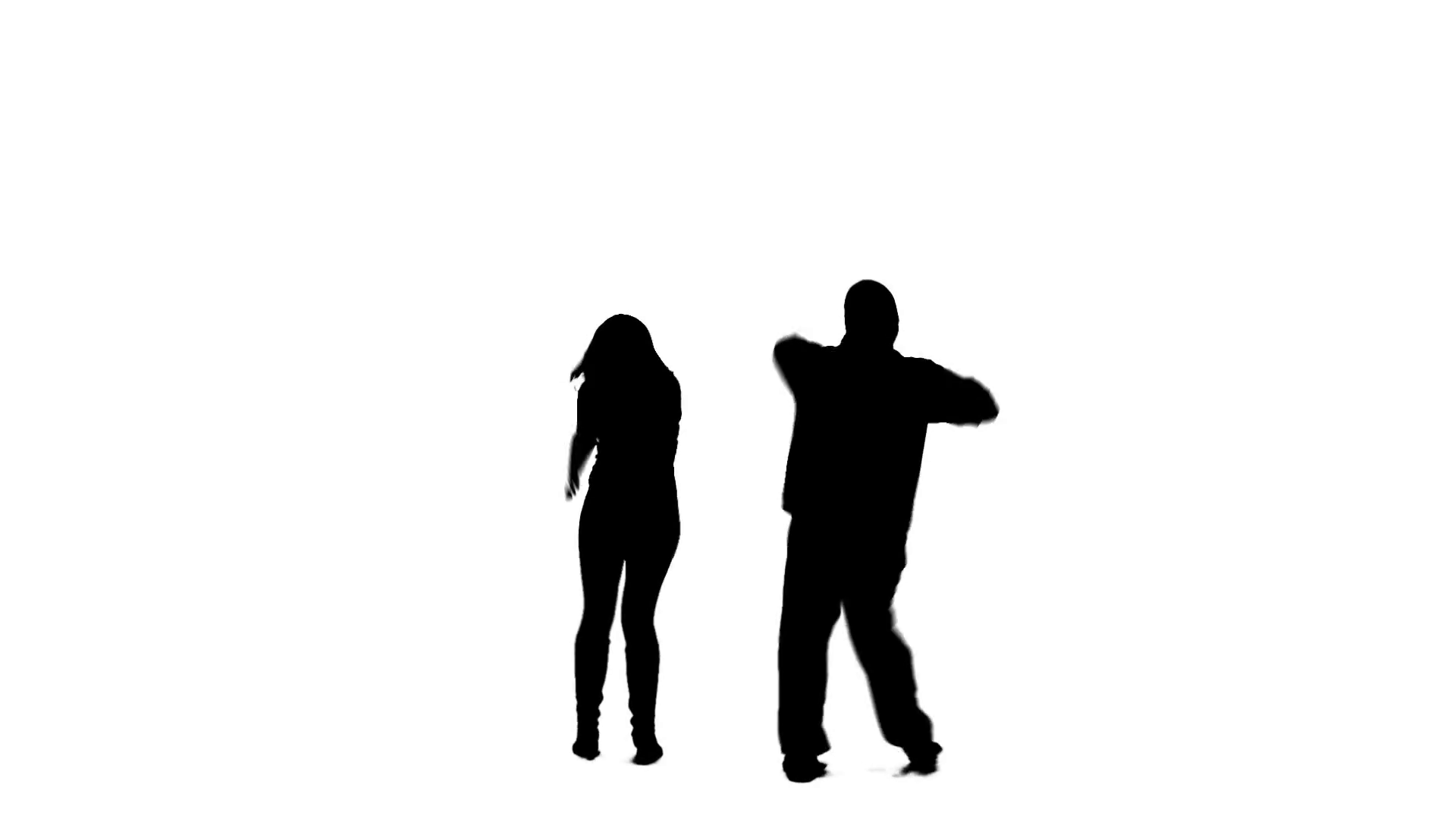 1920x1080 Silhoutted Mand Woman Dancing, Which Eventually Turns Into