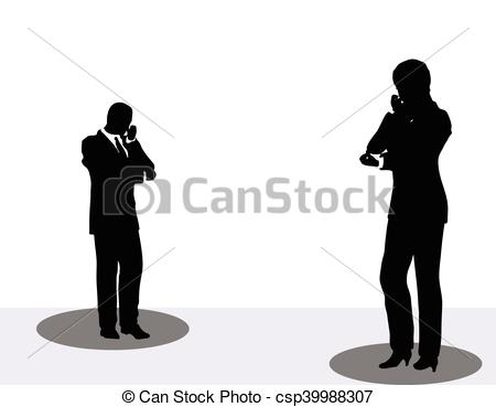 450x369 Eps 10 Vector Illustration Of Business Man And Woman Vector