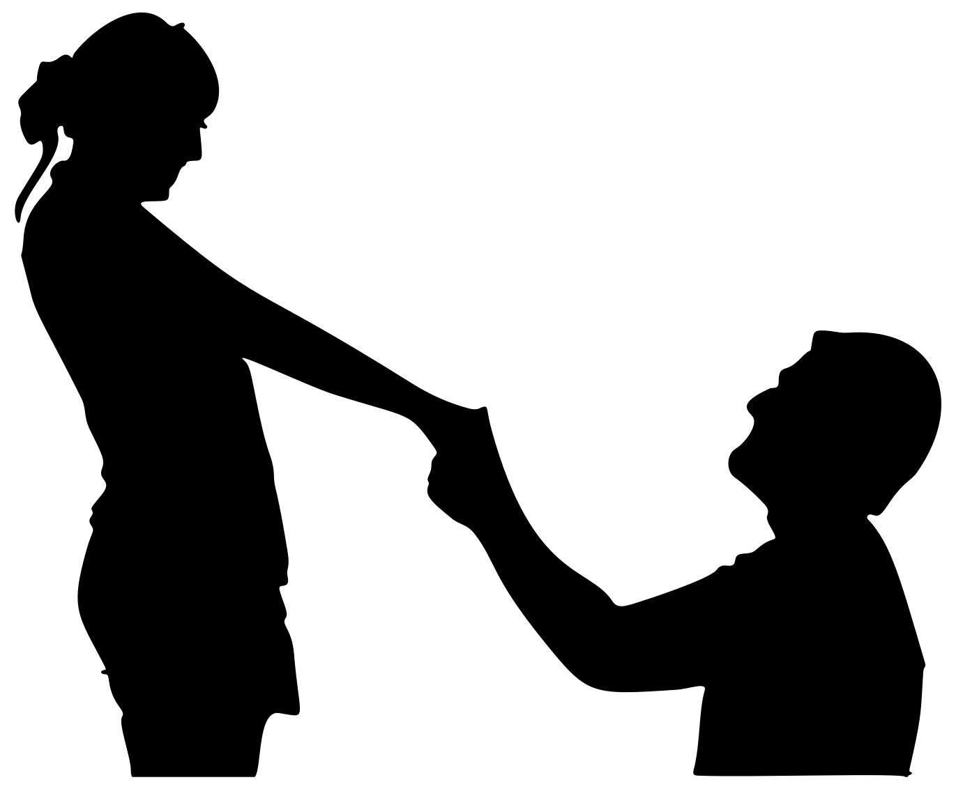 1371x1132 Man And Woman Couple Silhouette Clipart
