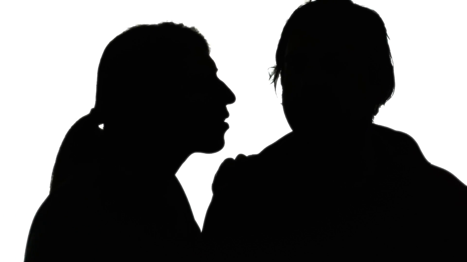 1920x1080 Silhouette Man Woman Secret Whisper Red. A Man Whispering A Secret