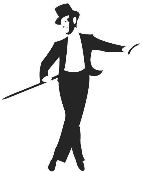492x595 Strikingly Idea Tap Dance Silhouette Man And Women Royalty Free